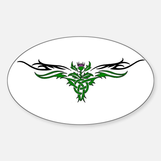 Tribal Thistle Oval Bumper Stickers