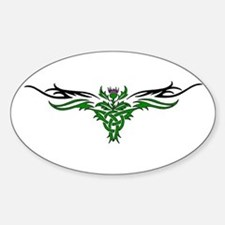 Tribal Thistle Oval Decal