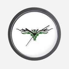 Tribal Thistle Wall Clock