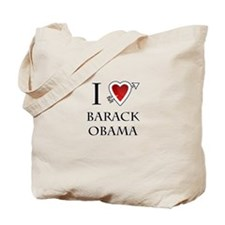 i love Barack Obama heart Tote Bag