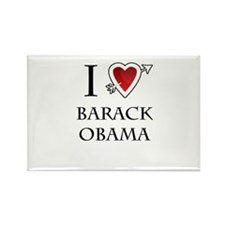 i love Barack Obama heart Rectangle Magnet