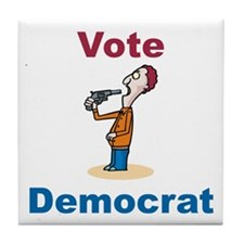 Commit Suicide, vote Democrat Tile Coaster