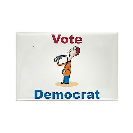 Commit Suicide, vote Democrat Rectangle Magnet (10