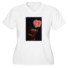 sjohnthing,glorious single pink rose in vase. Wome