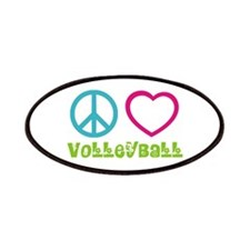 Peace Love Volleyball Patches