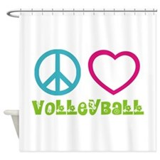 Peace Love Volleyball Shower Curtain