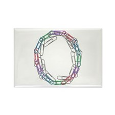O Paper Clips Rectangle Magnet