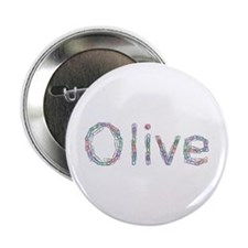 Olive Paper Clips Button