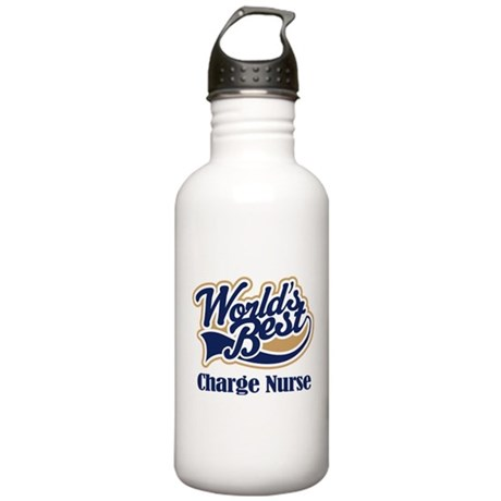 Charge Nurse (Worlds Best) Stainless Water Bottle
