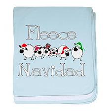 Fleece Navidad baby blanket
