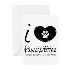 I heart PHSGA black and white Greeting Cards (Pk o