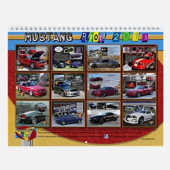 2013 Mustang RIOT Wall Calendar