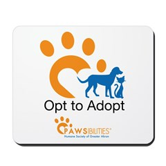 Opt to Adopt color Mousepad