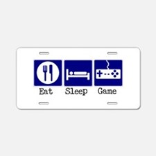 Eat, Sleep, Game Aluminum License Plate