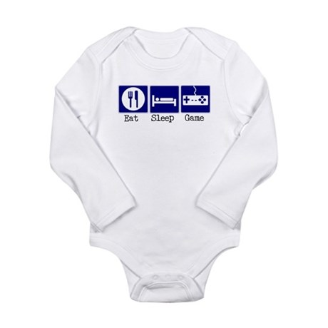Eat, Sleep, Game Long Sleeve Infant Bodysuit
