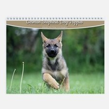 German Shepherd dog puppies Wall Calendar