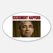 EXCREMENT Sticker (Oval)