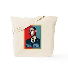 Barack Obama We Win Tote Bag