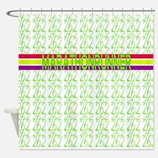 Marathon Runner Shower Curtain