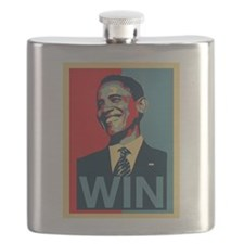 Barack Obama Win Flask