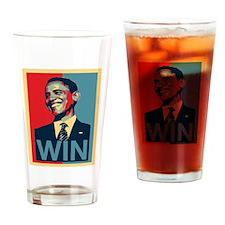 Barack Obama Win Drinking Glass