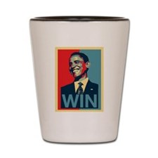 Barack Obama Win Shot Glass