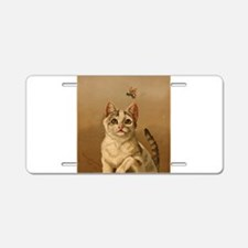 Bee Careful Kitty Aluminum License Plate