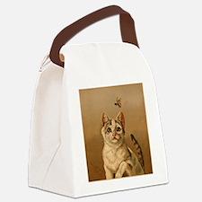 Bee Careful Kitty Canvas Lunch Bag