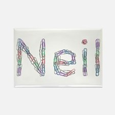 Neil Paper Clips Rectangle Magnet