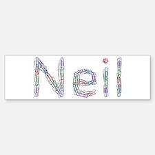Neil Paper Clips Bumper Bumper Bumper Sticker