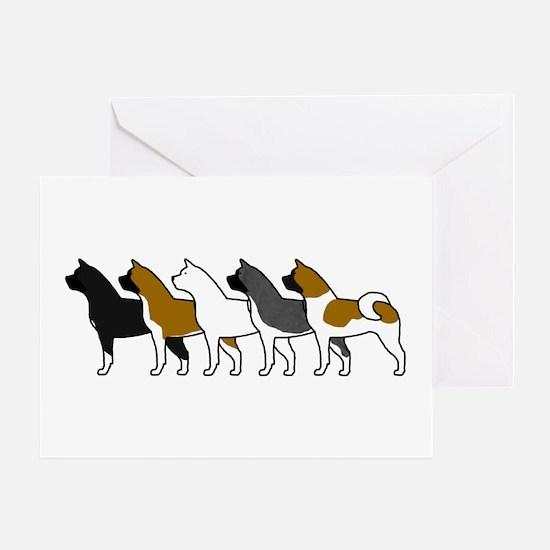 Group O' Akitas Greeting Card