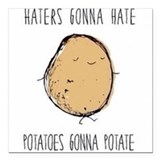 Haters gonna hate 2c potatoes gonna potato square Square Car Magnets