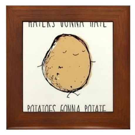 Haters Gonna Hate, Potatoes Gonna Potate Framed Ti