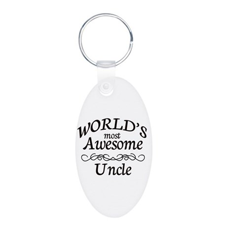 Awesome Aluminum Oval Keychain