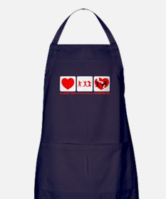 If Zombies Chase Us Apron (dark)