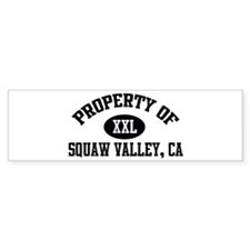 Property of SQUAW VALLEY Bumper Bumper Sticker