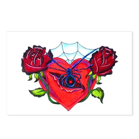 Deadly Heart Postcards (Package of 8)