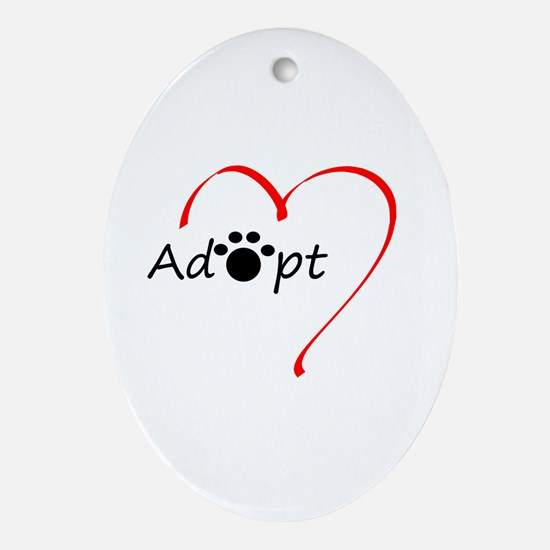 Adopt Ornament (Oval)