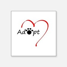 "Adopt Square Sticker 3"" x 3"""