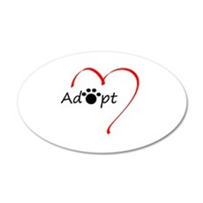 Adopt 35x21 Oval Wall Decal
