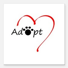 "Adopt Square Car Magnet 3"" x 3"""