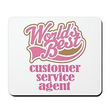 Customer Service Agent (Worlds Best) Mousepad