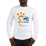 Opt to Adopt color Long Sleeve T-Shirt