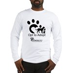 Opt to Adopt black and white Long Sleeve T-Shirt