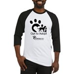 Opt to Adopt black and white Baseball Jersey