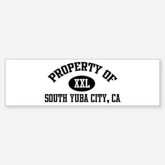 Property of SOUTH YUBA CITY Bumper Bumper Bumper Sticker