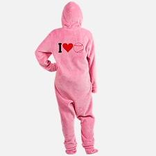 ilovebaseballblk.png Footed Pajamas