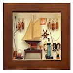 Nautical Scene Framed Tile