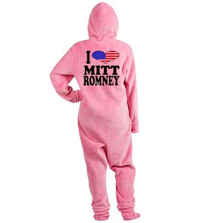 ilovemittromneyblk.png Footed Pajamas