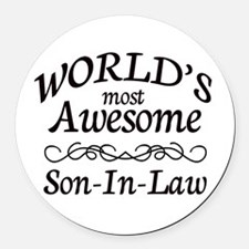 Awesome Round Car Magnet